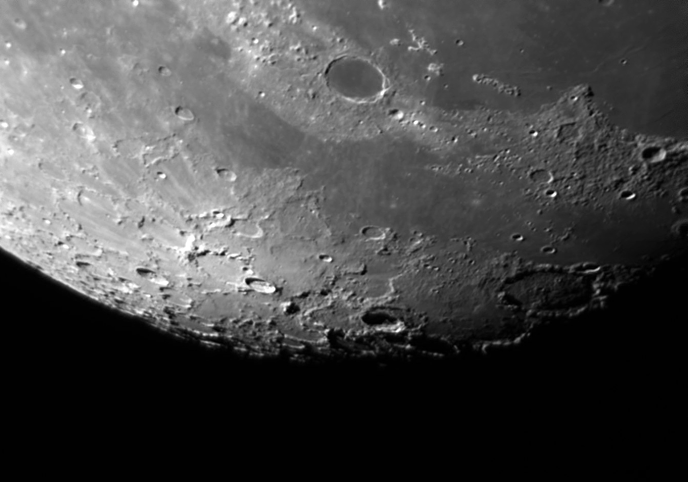 Lunar Northern Pola region by Phil Rourke